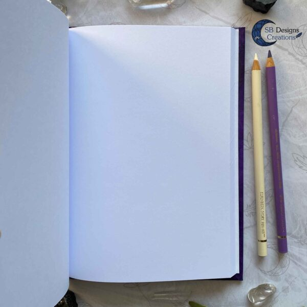 Moonphases Journal Cauldron Notebook Purple-5