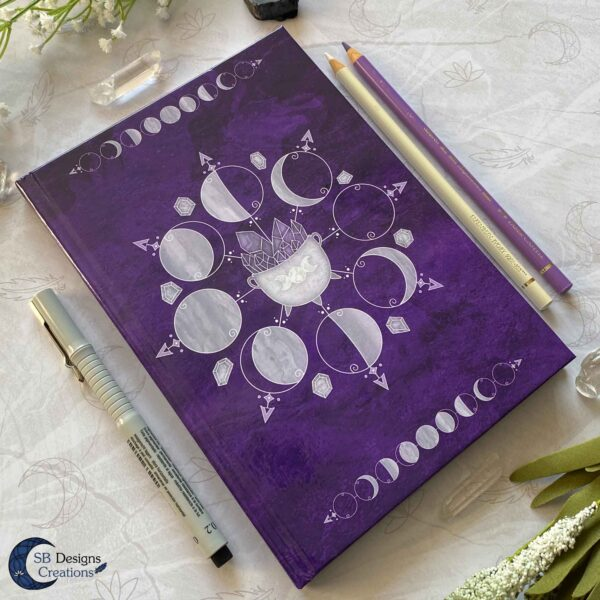 Moonphases Journal Cauldron Notebook Purple-6