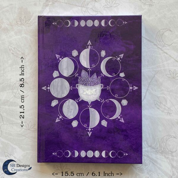 Moonphases Journal Cauldron Notebook Purple-7