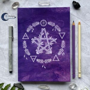 Pentagram Notitieboek Journal Elementen Magie Witch Journal SBDesignsCreations-2