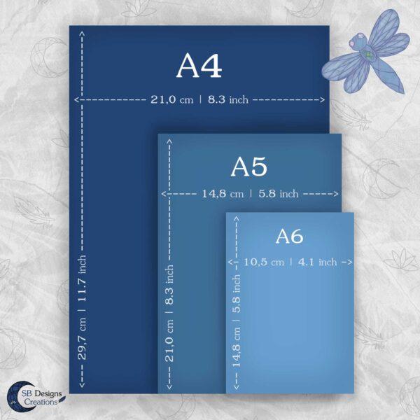 Artprints Papier Formaten Paper Formats A4 A5 A6
