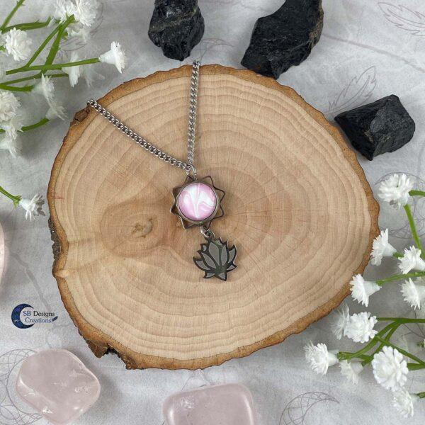 Lotus Ketting Spirituele Sieraden Water Lelie Roze-1