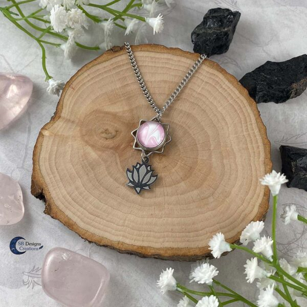 Lotus Ketting Spirituele Sieraden Water Lelie Roze-3