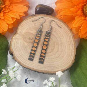 Maan Oorbellen Oranje Maanheks Sieraden Moonchild oorbellen-1