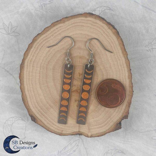 Maan Oorbellen Oranje Maanheks Sieraden Moonchild oorbellen-4