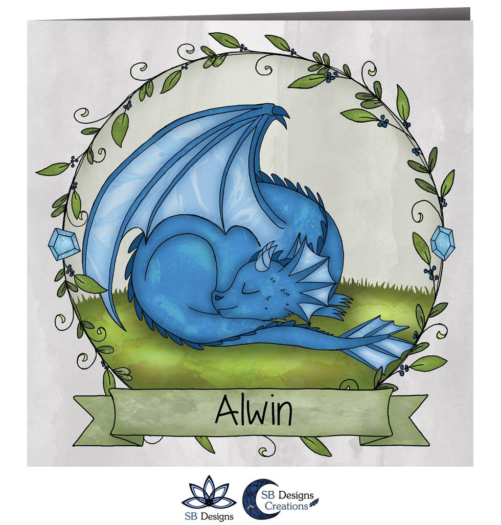 Draken Geboortekaartje Blauw Draakje Baby-2