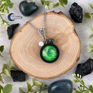 Earth Element Jewelry - Aarde Element Sieraden - Mos Agaat en Iris Kwarts-1