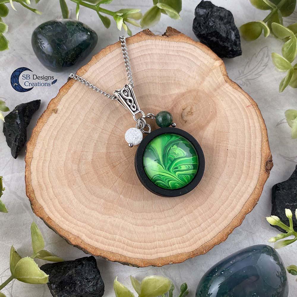 Earth Element Jewelry - Aarde Element Sieraden - Mos Agaat en Iris Kwarts-2