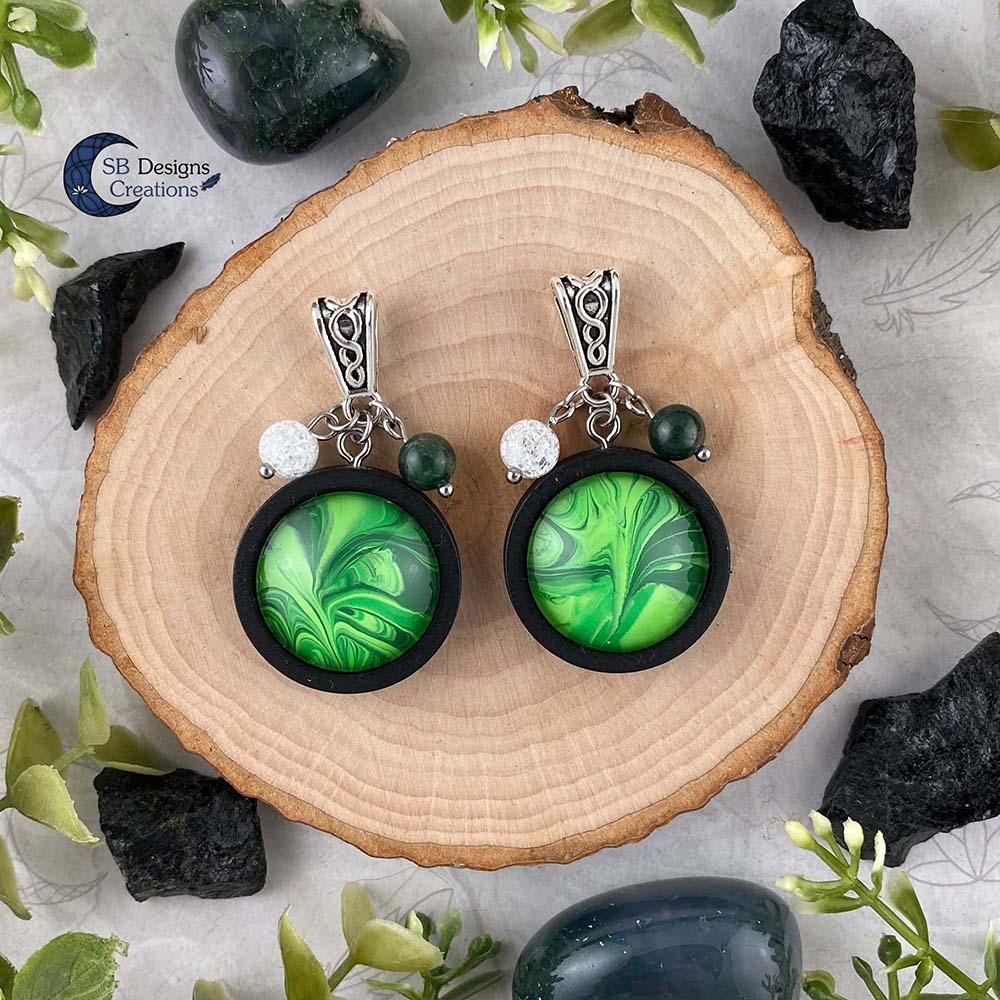 Earth Element Jewelry - Aarde Element Sieraden - Mos Agaat en Iris Kwarts-3