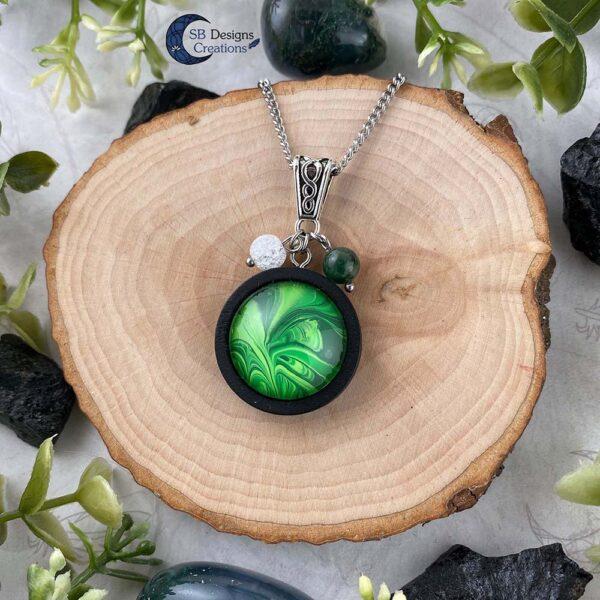 Earth Element Jewelry - Aarde Element Sieraden - Mos Agaat en Iris Kwarts-5