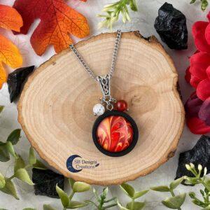 Element of Fire Jewelry - Vuur element ketting iriskwarts en carneool-1