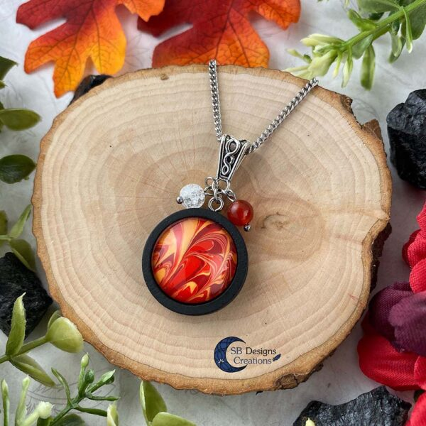Element of Fire Jewelry - Vuur element ketting iriskwarts en carneool-2