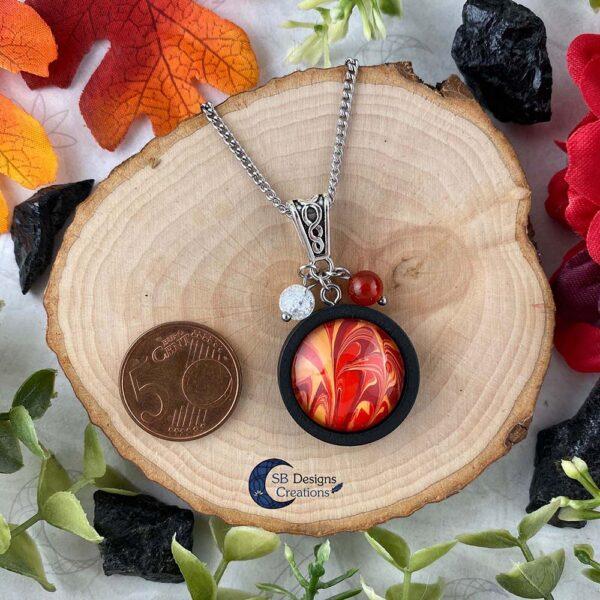 Element of Fire Jewelry - Vuur element ketting iriskwarts en carneool-3