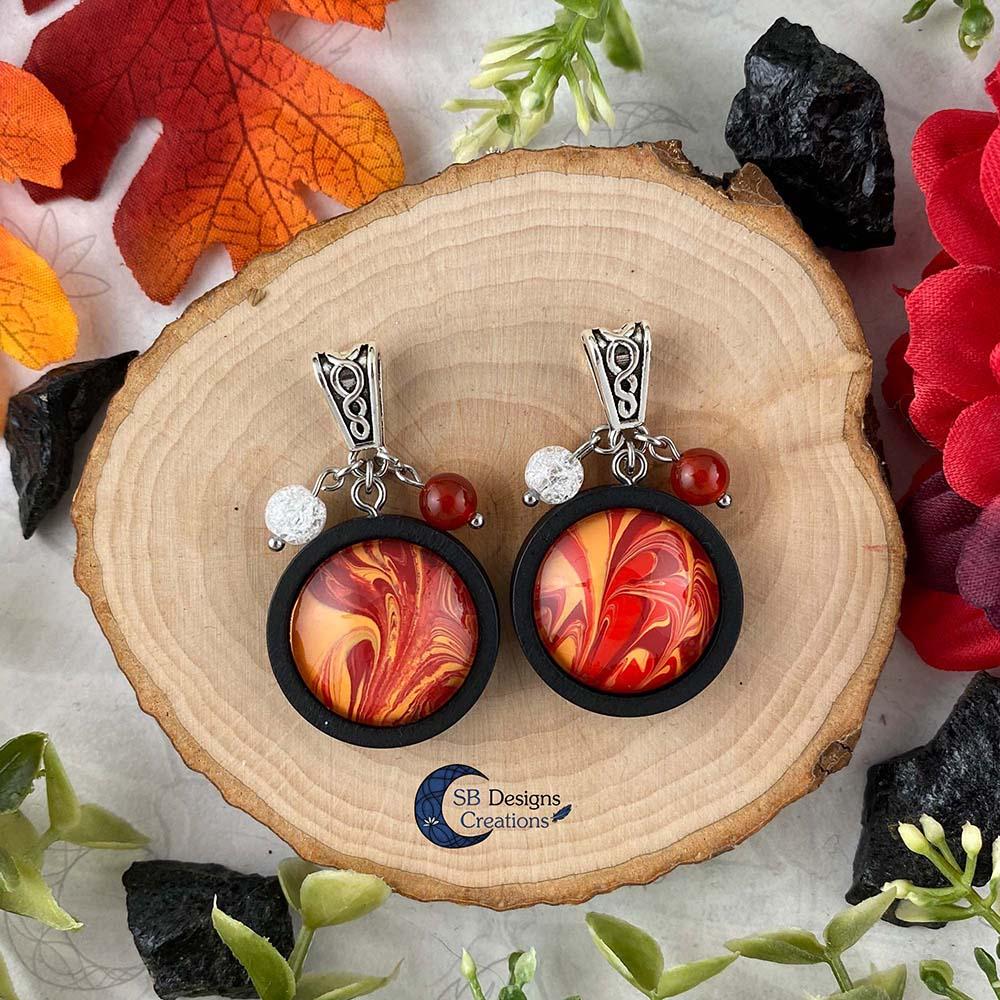 Element of Fire Jewelry - Vuur element ketting iriskwarts en carneool-4