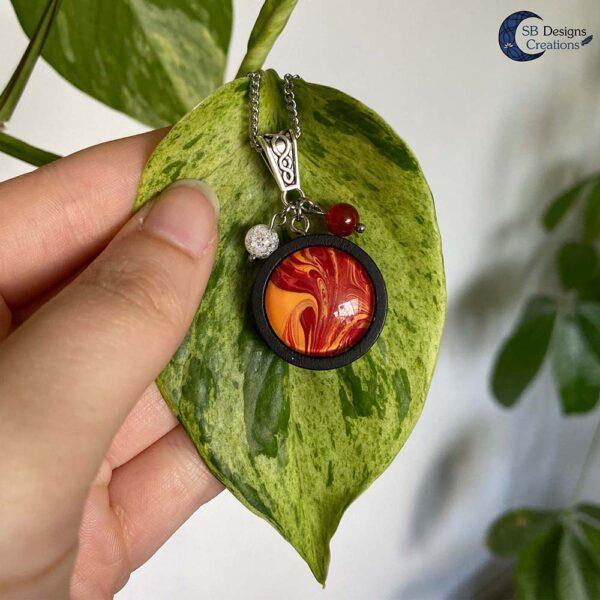 Element of Fire Jewelry - Vuur element ketting iriskwarts en carneool-5