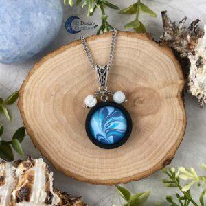 Element of water necklace - Water element sieraden aquamarijn en iris kwarts-1