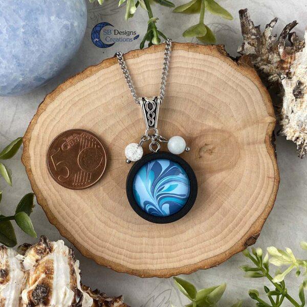 Element of water necklace - Water element sieraden aquamarijn en iris kwarts-4