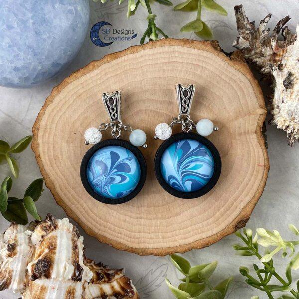Element of water necklace - Water element sieraden aquamarijn en iris kwarts-5