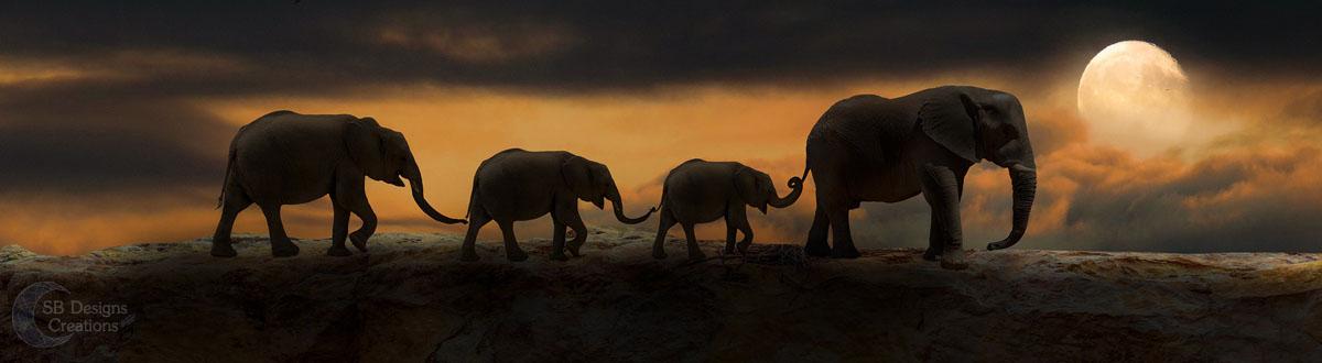 olifant-elephant-Banner-Animal Spirit-SBDesignsCreations