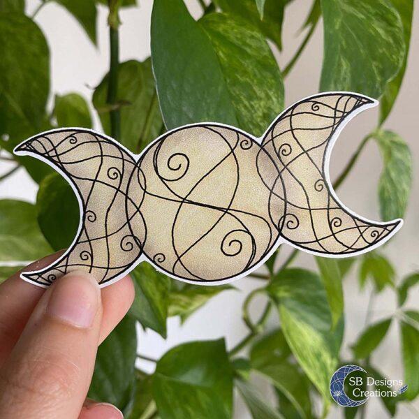 Drievoudige Maan Triple Moon Sticker Hekserij