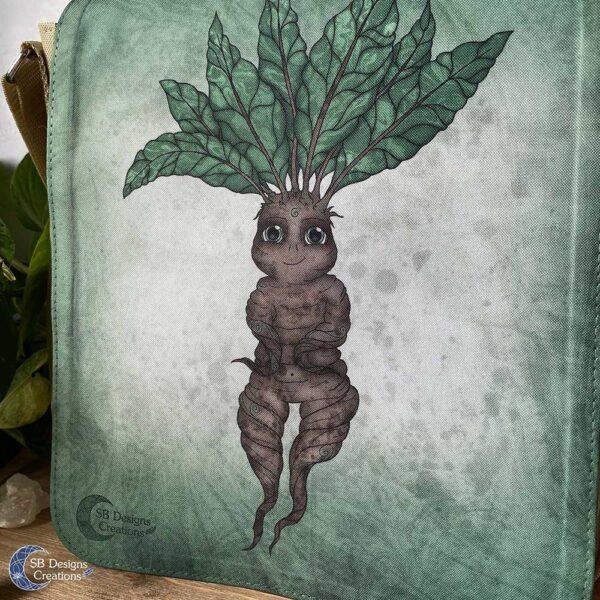 Mandragora Mandrake Alruin Fantasy Schoudertas Bruin-3