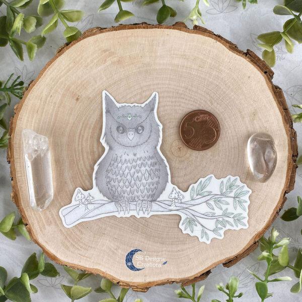 Uil Krachtdier Spirit Animal Owl Spirit Sticker