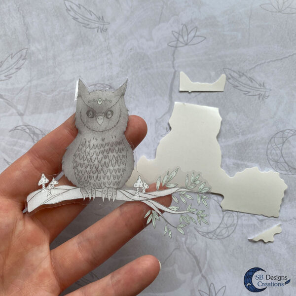Uil Krachtdier Spirit Animal Transparante Stickers