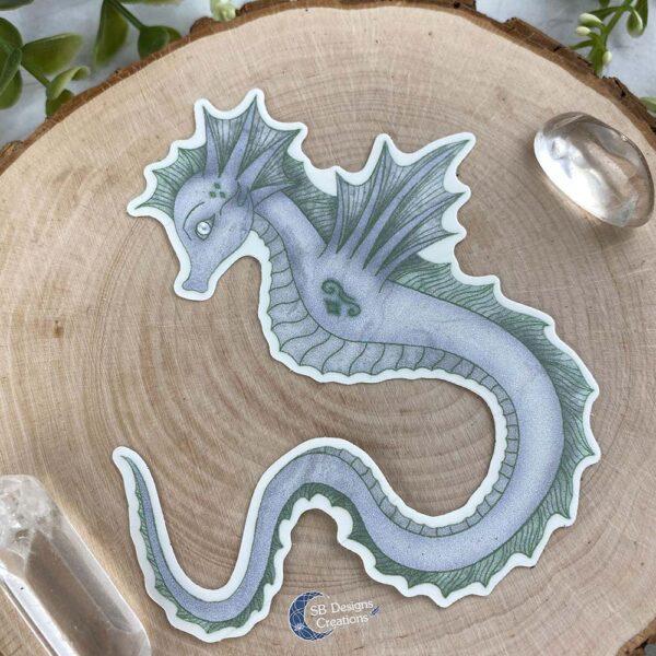 Zeepaard Krachtdier Spirit Animal Seahorse Vinyl Sticker stationery
