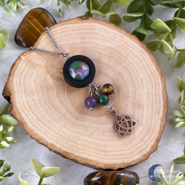Keltische Ketting Groene Heks Natuur Lente Sieraden Fantasy Jewelry