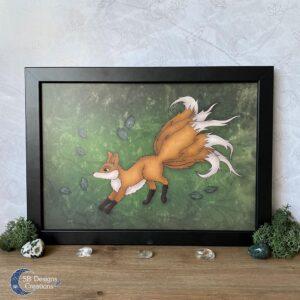 Kitsune Mythologisch Wezen Art Print SBDesigns Creations