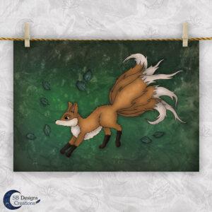 Kitsune Preview Artprint Mythology