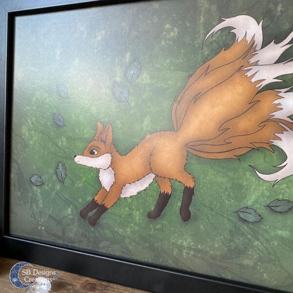 Kitsune Vos Print Poster A4 Mythologie