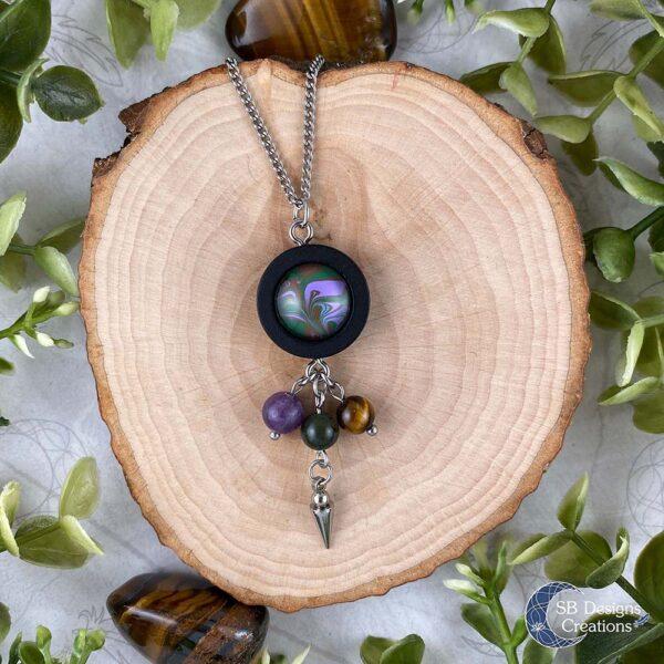 Lente Ketting Spring necklace Amethist Tijgeroog Mosagaat SBDesigns01