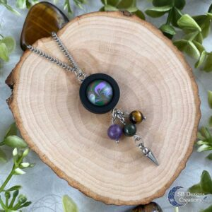 Lente Ketting Spring necklace Amethist Tijgeroog Mosagaat SBDesigns02