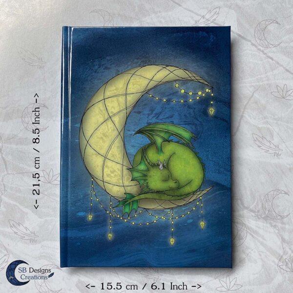 Maandraak Draakje op de Maan A5 Hardcover Journal