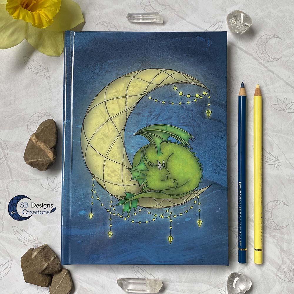 Maandraak Draakje op de Maan Maanmagie Journal