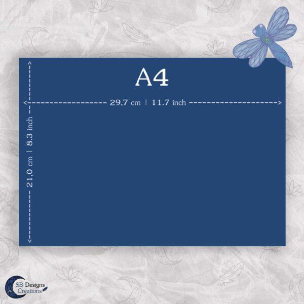 Maataanduiding A4 Liggend Print Poster SB Designs Creations