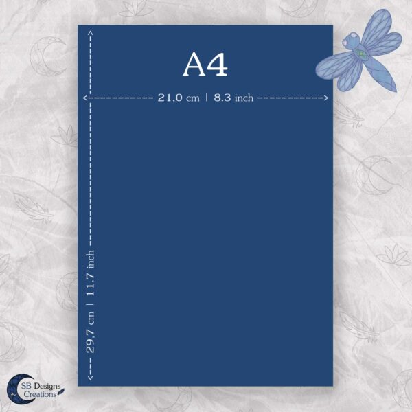 Maataanduiding A4 Staand Print Poster SB Designs Creations