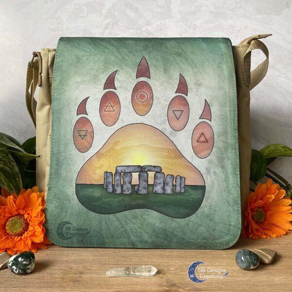 Midsummer Litha Druide Stonehenge Schoudertas Magick