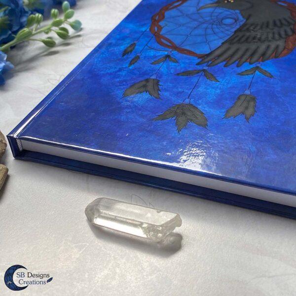 Raven Dromenvanger Krachtdier Spirit Animal A5 Notebook Blanco of Lijntjes