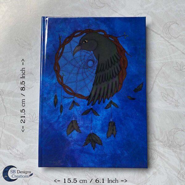 Raven Dromenvanger Krachtdier Spirit Animal A5 Notitieboek Hardcover Fantasy