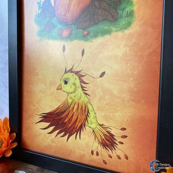 Feniks Baby Babykamer Kinderkamer Fantasy Art Fantasy Drukwerk Mythologische Wezens