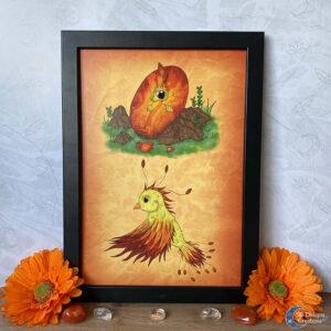 Feniks Baby Babykamer Kinderkamer Fantasy Art Phoenix Nursery Art Print A4