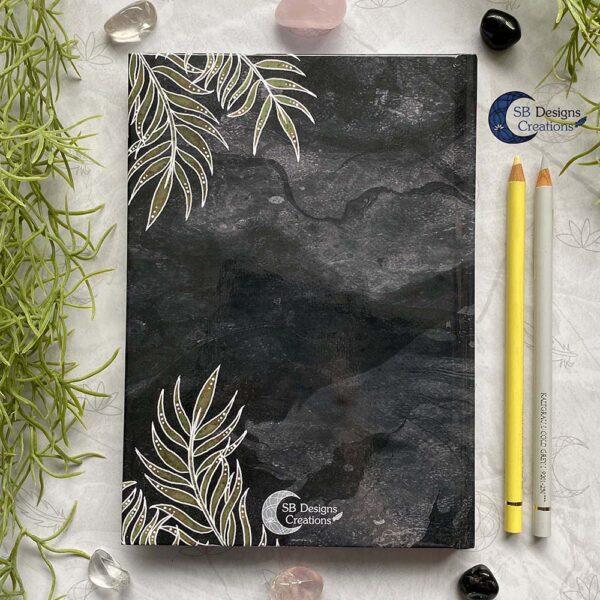 Olifant Krachtdier-A5 Hardcover Notitieboek Achterzijde Spiritualiteit