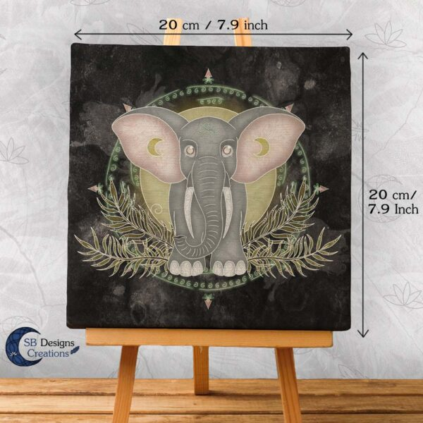 Olifant Krachtdier Canvas Elephant Spirit Animal