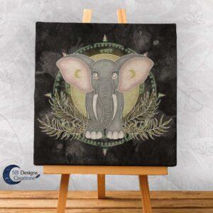Olifant Krachtdier Canvas Print Spiritual Art