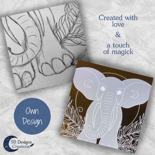 Eigen Ontwerp Producten Art en Illustraties Olifant Krachtdier