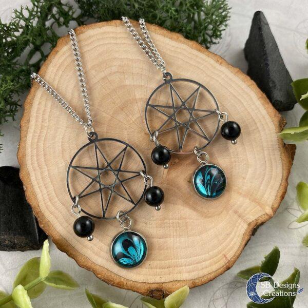 Fairy Star Elven Star Heptagram Septogram Symbol Ketting-3