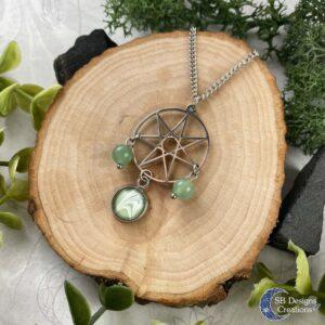 Heptagram Septogram Fairy star Elven star Ketting Aventurijn