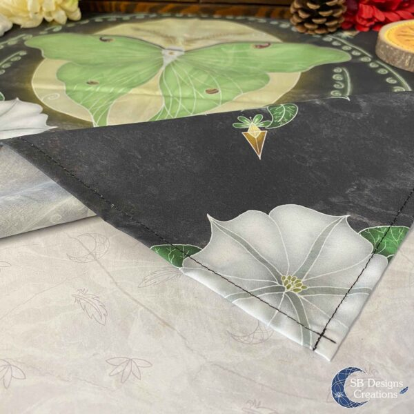 Altar Cloth Moonphases Luna Moth Spirituality Witchy